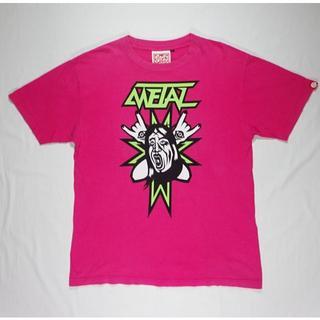 パンクドランカーズ(PUNK DRUNKERS)のPUNK DRUNKERS パンクドランカーズ Tシャツ 半袖 ピンク Lサイズ(Tシャツ/カットソー(半袖/袖なし))
