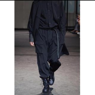 ヨウジヤマモト(Yohji Yamamoto)の17SS ヨウジヤマモト オム ウールギャバ 脇タック ポケット パンツ (サルエルパンツ)