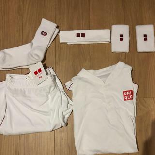 ユニクロ(UNIQLO)のユニクロ フェデラー シャツ パンツ ハチマキ バンダナ 鉢巻 錦織 テニス(ウェア)