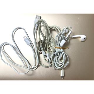 アイフォーン(iPhone)のiPhone 純正イヤホン ジャンク品 ライトニングケーブル 充電コード USB(PC周辺機器)