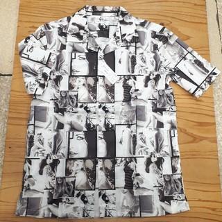 ギャルソンウェーブ(Garcon Wave)の新品タグ付き 白×茶 ギャルソンウェーブ アロハシャツ(シャツ)