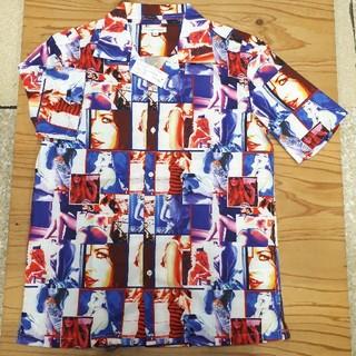 ギャルソンウェーブ(Garcon Wave)の新品タグ付き 赤×紫 ギャルソンウェーブ アロハシャツ Lサイズ(シャツ)