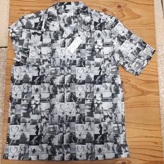 ギャルソンウェーブ(Garcon Wave)の新品タグ付き 白×黒 ギャルソンウェーブ アロハシャツ (シャツ)