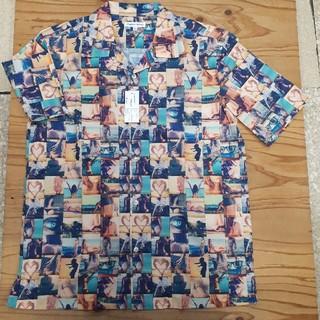 ギャルソンウェーブ(Garcon Wave)の新品タグ付き 橙×緑 ギャルソンウェーブ アロハシャツ Lサイズ(シャツ)