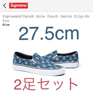 シュプリーム(Supreme)のSupreme Vans Punch Denim Slip-On US9.5(スリッポン/モカシン)