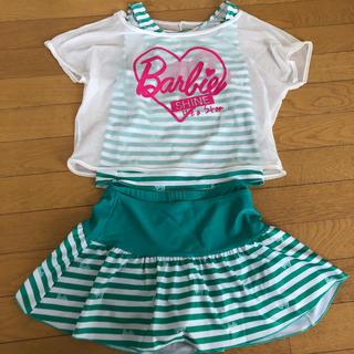 バービー(Barbie)の女の子 水着 4点セット(水着)
