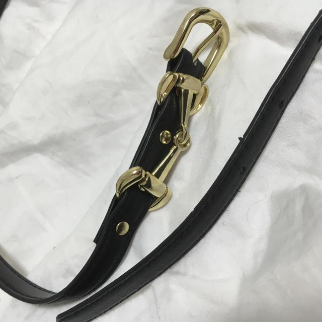 美品◯ベルト◯黒◯ゴールド レディースのファッション小物(ベルト)の商品写真