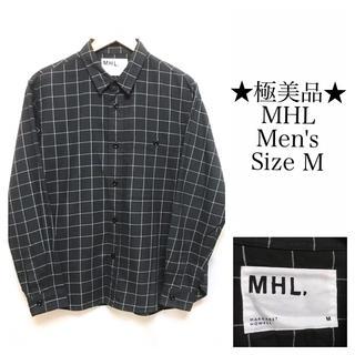 【極美品】MHL/エムエイチエル チェックシャツ M  マーガレットハウエル(シャツ)