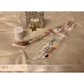 """ディオール(Dior)の【新品】Dior """"M"""" シルクツイル Mitzah スカーフ ツイリー(バンダナ/スカーフ)"""