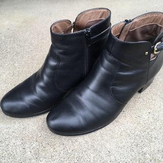 アシナガオジサン(あしながおじさん)のあしながおじさん ベルテッドショートブーツ(ブラック)(ブーツ)