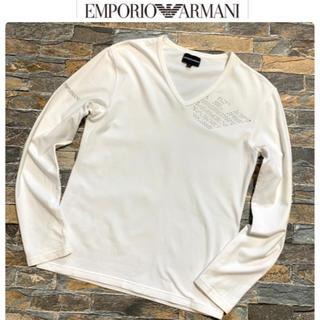 エンポリオアルマーニ(Emporio Armani)の【ジェネシス様専用】ARMANI アルマーニ/ラインストーン ロンT  M(Tシャツ/カットソー(七分/長袖))