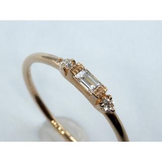 本物K18PG 0.11ctダイヤモンド リング 送料無料(リング(指輪))