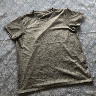 ユニクロ(UNIQLO)の新品未使用品、ユニクロ Tシャツ、DRY-EX、グレー、スポーツ、レディース(その他)