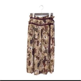 ロイスクレヨン(Lois CRAYON)の超美品!!lois crayon 花柄ロイスクレヨンパッチワークプリーツスカート(ロングスカート)