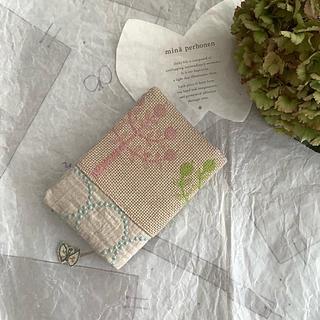 ミナペルホネン(mina perhonen)のring×タンバリンパッチとタンバリンパッチのブックカバー♡2点♡文庫本サイズ(ブックカバー)