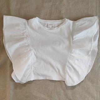 ザラキッズ(ZARA KIDS)の【試着のみ】Zara kids フリルTシャツ size 6(Tシャツ/カットソー)