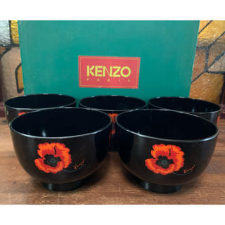 ケンゾー(KENZO)のKENZO お碗 漆器 5つセット ケンゾー 花柄(食器)