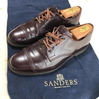 サンダース(SANDERS)のサンダース ミリタリーダービーシュー 7 1/2 バーガンディー(ドレス/ビジネス)