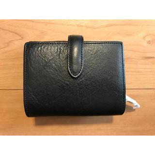 ムジルシリョウヒン(MUJI (無印良品))のMUJI 無印良品 ジャバラ 財布 ウォレット ブラック 黒(財布)