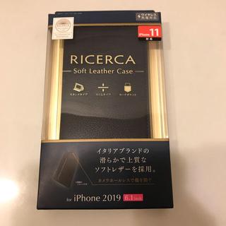 エレコム(ELECOM)の新品未開封 スマホケース iPhone11 手帳型 ソフトレザー(iPhoneケース)