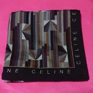 セリーヌ(celine)のセリーヌ CELINE ハンカチ メンズ 大判 未使用(ハンカチ/ポケットチーフ)