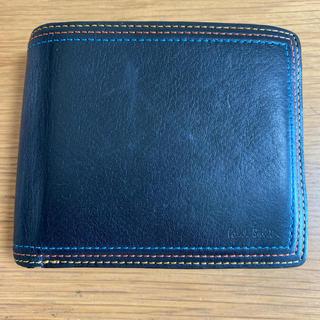 ポールスミス(Paul Smith)のPaulSmith  ストライプステッチ レザー二つ折り財布(折り財布)