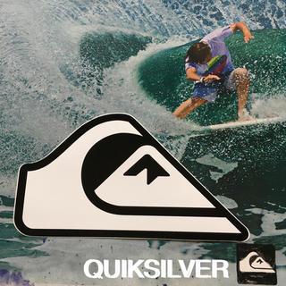 クイックシルバー(QUIKSILVER)のQUIKSILVERクイックUS限定型抜ニュースクールBIGICON ステッカー(サーフィン)