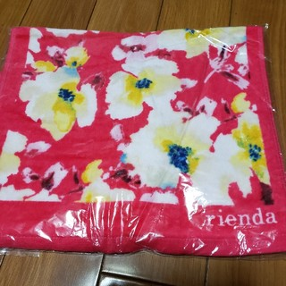 リエンダ(rienda)のrienda♡新品 フラワー柄 フェイスタオル(タオル/バス用品)