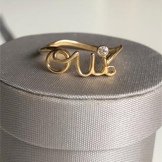 ディオール(Dior)のDior oui リング ウィリング ディオール ワイヤーリング k18 yg(リング(指輪))