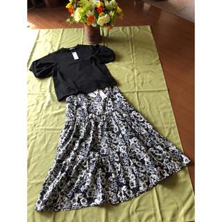 ジーユー(GU)の🍀GUI ジーユー お洒落Tシャツ&スカート新品❣️(ロングスカート)
