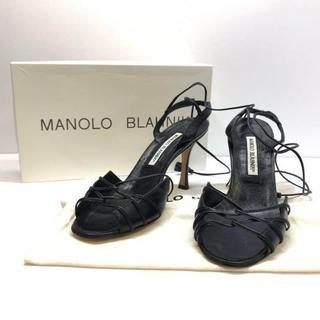 マノロブラニク(MANOLO BLAHNIK)の518 ほぼ未使用 マノロブラニク パンプス サンダル パーティ(サンダル)
