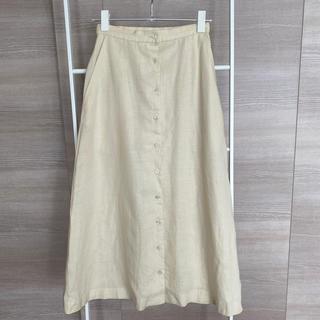 ラルフローレン(Ralph Lauren)のラルフローレン 麻100%フレアロング 7号サイズ(ロングスカート)