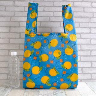 普段使いにちょうどいいサイズのレジ袋型エコバッグ ミカン柄(バッグ)