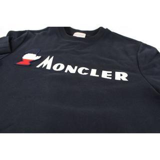 モンクレール(MONCLER)の★美品★ モンクレール モンダックロゴ スウェットシャツ ネイビー Sサイズ(スウェット)