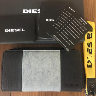 ディーゼル(DIESEL)の【箱あり】ディーゼル 長財布 レザー  デニム(長財布)