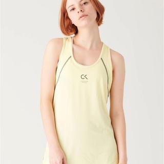 カルバンクライン(Calvin Klein)のCALVIN KLEIN タンクトップ イエロー Sサイズ(ヨガ)