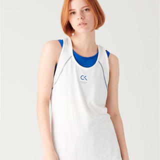 カルバンクライン(Calvin Klein)のCALVIN KLEIN タンクトップ ホワイト Sサイズ(タンクトップ)