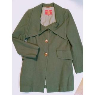 ヴィヴィアンウエストウッド(Vivienne Westwood)のvivienneカーキ色コート(ロングコート)
