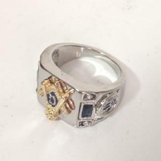 秘密結社 フリーメイソン メンズ シルバーリング 15-16号(リング(指輪))