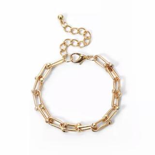 ローズバッド(ROSE BUD)のSquare chain gold bracelet No.426(ブレスレット/バングル)