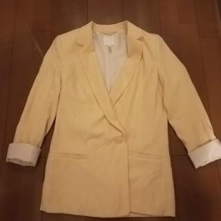 エイチアンドエム(H&M)のクリームイエローのジャケット(テーラードジャケット)