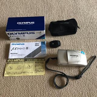 オリンパス(OLYMPUS)のOLYMPUS μ [mju:]-Ⅱ オリンパス ミュー ツー 2 カメラ 箱有(フィルムカメラ)