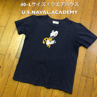 ウエアハウス(WAREHOUSE)の40-Lサイズ!日本製 ウエアハウス U.S.NAVAL.ACADEMY 古着(Tシャツ/カットソー(半袖/袖なし))