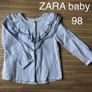 ザラ(ZARA)のZARA baby ザラベビー トップス 98 ストライプシャツ 女子 キッズ(Tシャツ/カットソー)