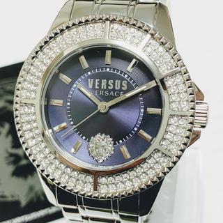ジャンニヴェルサーチ(Gianni Versace)の◆激レア◆世界限定品◆新品 高級VERSUS VERSACE 腕時計 ネイビー(腕時計(アナログ))