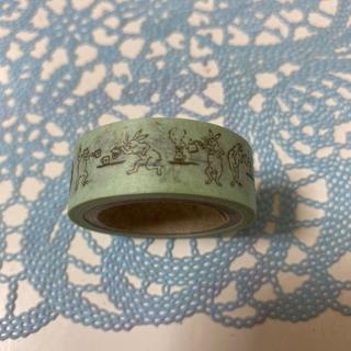 タリーズコーヒー(TULLY'S COFFEE)のタリーズ 鳥獣戯画 マスキングテープ 緑(テープ/マスキングテープ)