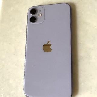 アイフォーン(iPhone)のiPhone 11 パープル 64 GB SIMフリー(スマートフォン本体)
