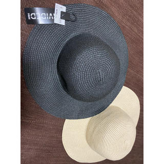 エイチアンドエム(H&M)のH&M 帽子 麦わら帽子 2個セット(麦わら帽子/ストローハット)
