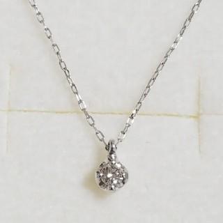 BLOOM - ✨新品未使用✨K10WG 1粒ダイヤモンドネックレス