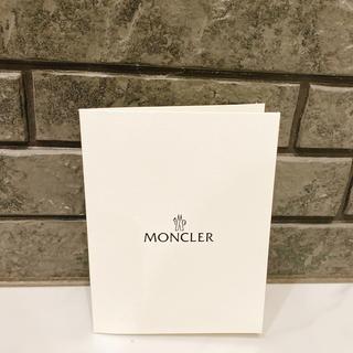 モンクレール(MONCLER)のお値下げ♡ モンクレール レシートファイル ホワイト ロゴ入り(ショップ袋)